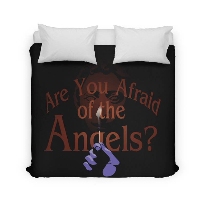 Are You Afraid of the Angels? Home Duvet by Moysche's Shop