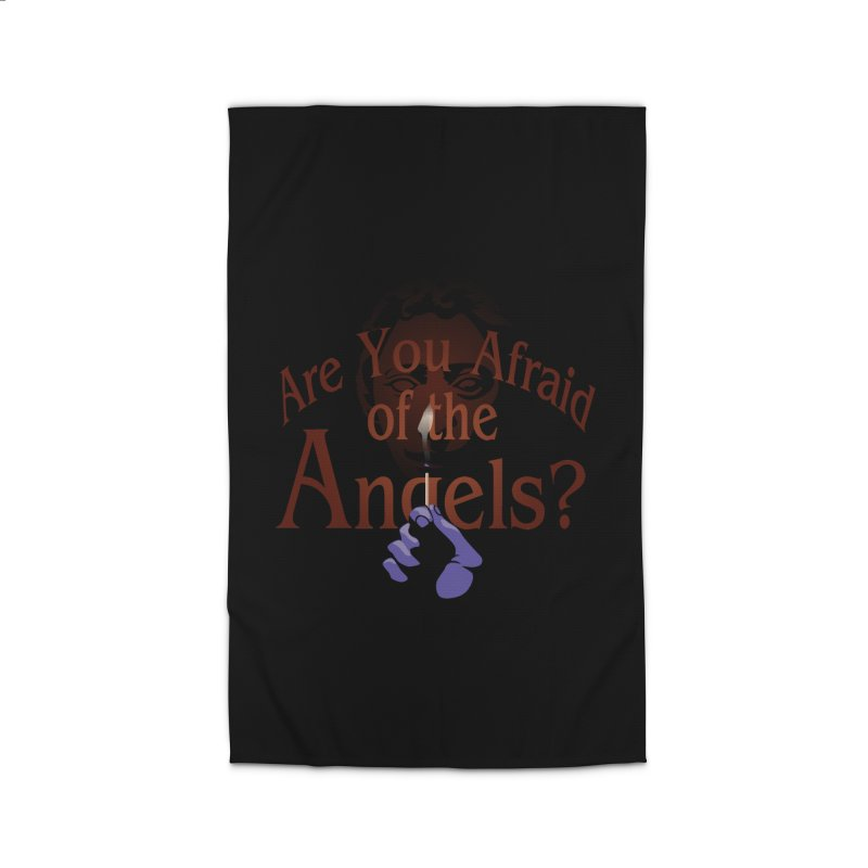 Are You Afraid of the Angels? Home Rug by Moysche's Shop