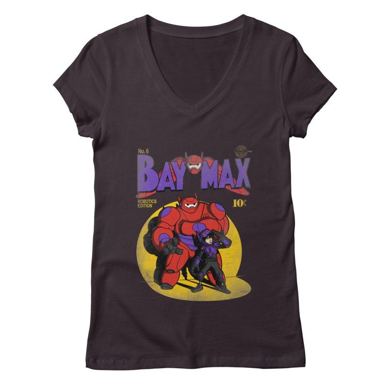 Baymax No. 6 Women's V-Neck by Moysche's Shop