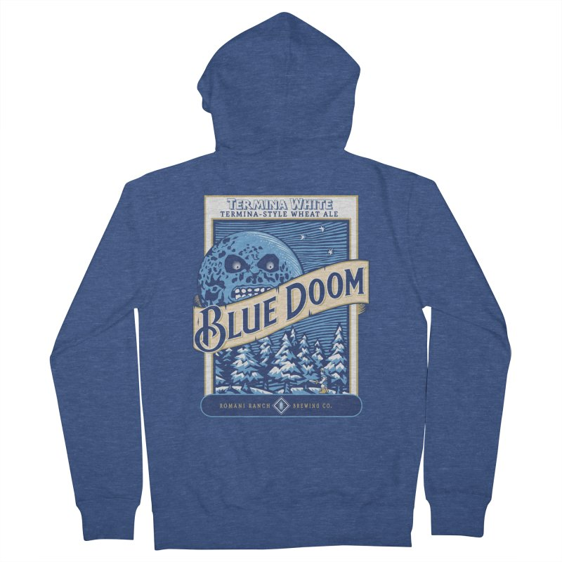 Blue Doom Women's Zip-Up Hoody by moysche's Artist Shop