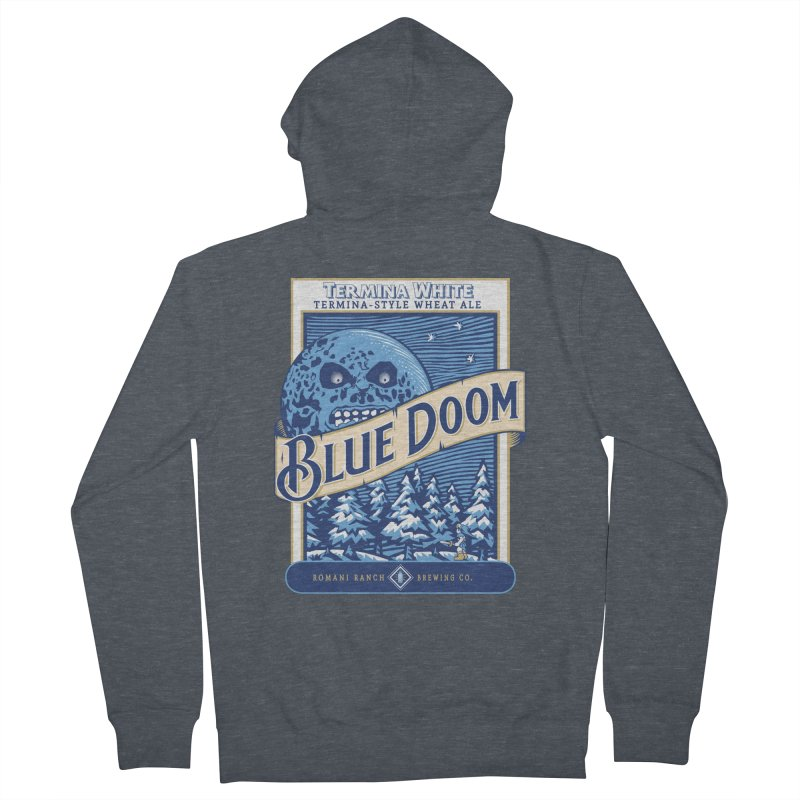 Blue Doom Men's Zip-Up Hoody by Moysche's Shop