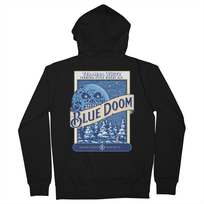 Blue Doom Men's Zip-Up Hoody by moysche's Artist Shop