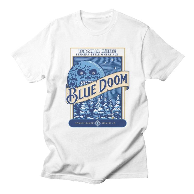 Blue Doom Men's T-shirt by moysche's Artist Shop