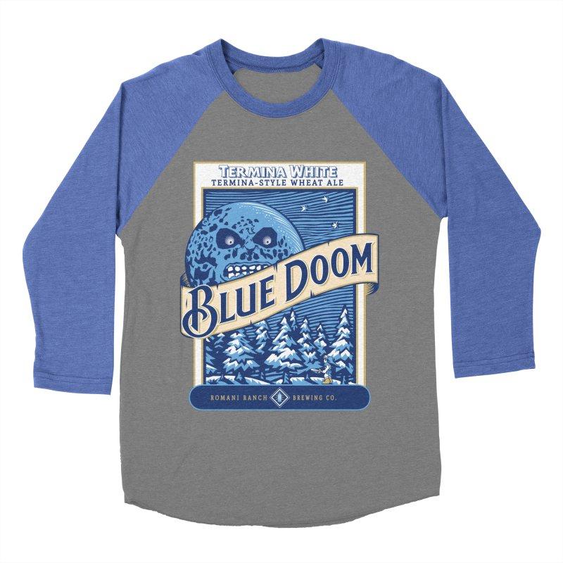 Blue Doom Men's Baseball Triblend T-Shirt by moysche's Artist Shop