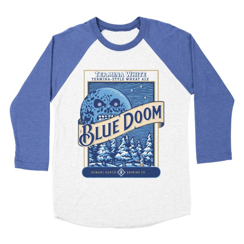Blue Doom Men's Baseball Triblend T-Shirt by Moysche's Shop