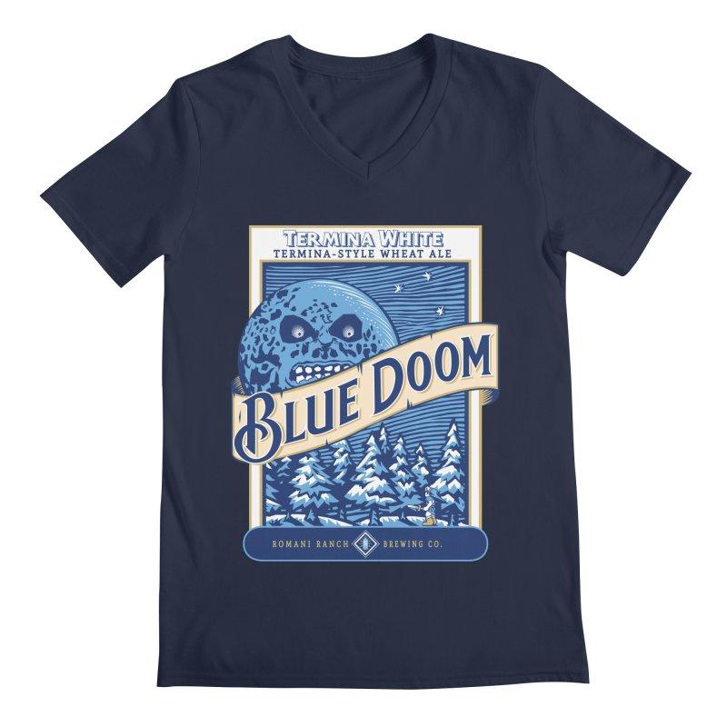 Blue Doom Men's V-Neck by Moysche's Shop