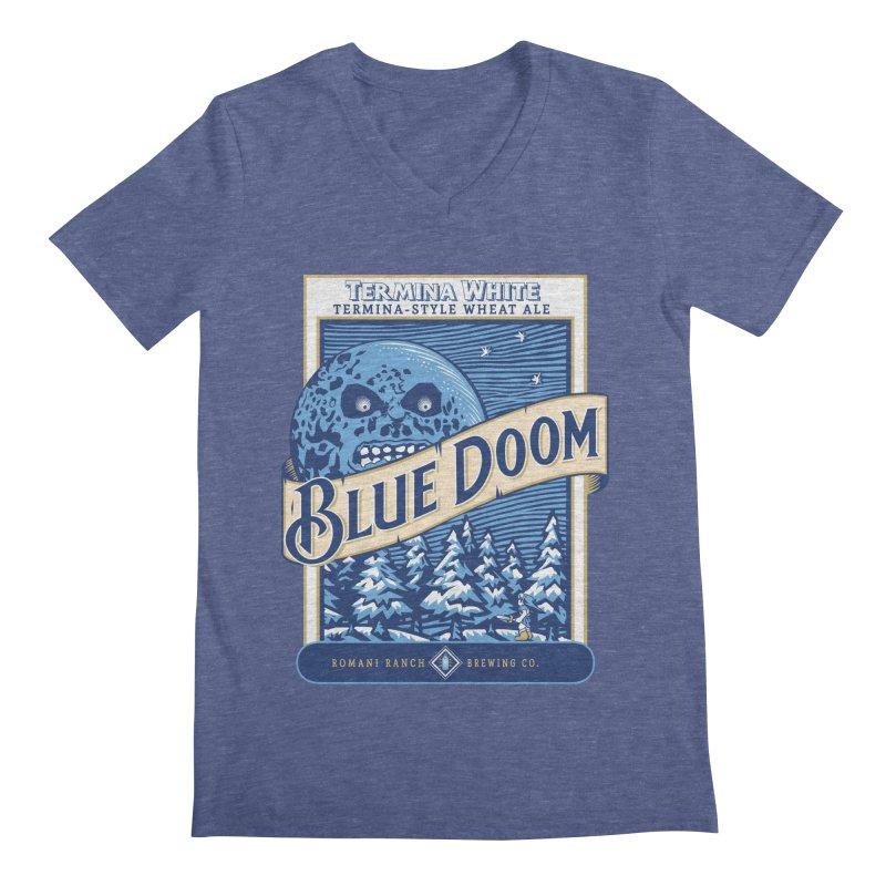 Blue Doom Men's V-Neck by moysche's Artist Shop