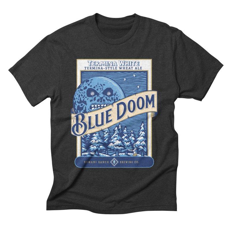 Blue Doom Men's Triblend T-shirt by moysche's Artist Shop