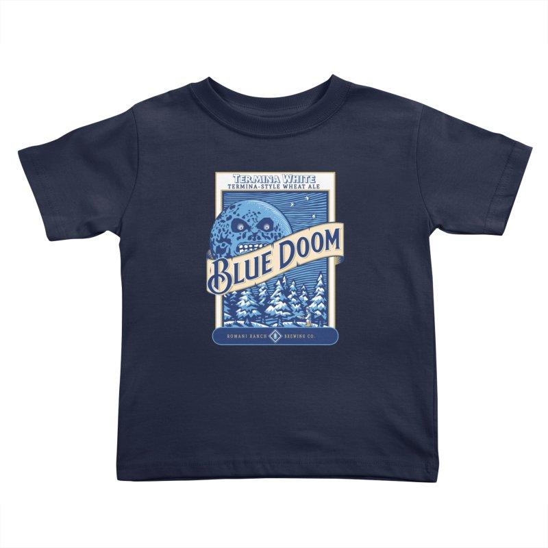 Blue Doom Kids Toddler T-Shirt by moysche's Artist Shop