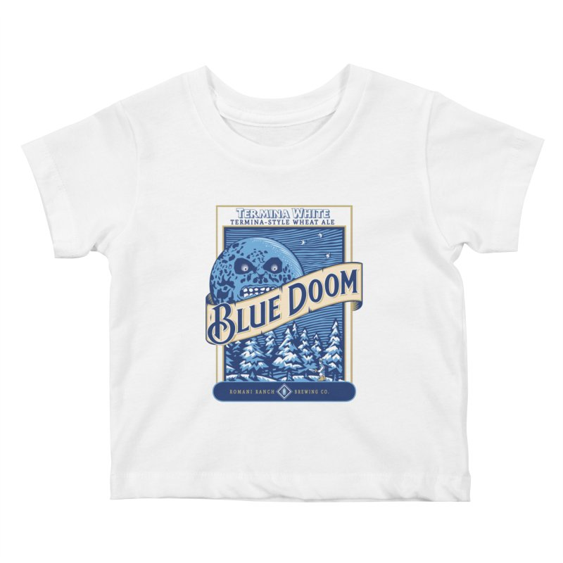 Blue Doom Kids Baby T-Shirt by Moysche's Shop