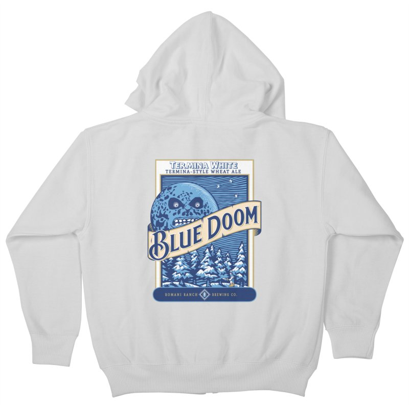 Blue Doom Kids Zip-Up Hoody by Moysche's Shop