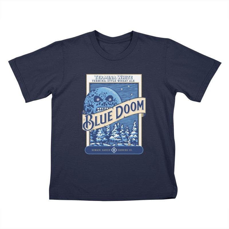 Blue Doom Kids T-Shirt by Moysche's Shop