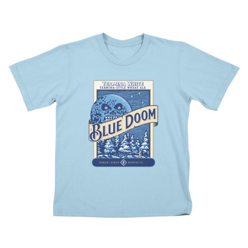 Blue Doom Kids T-shirt by moysche's Artist Shop