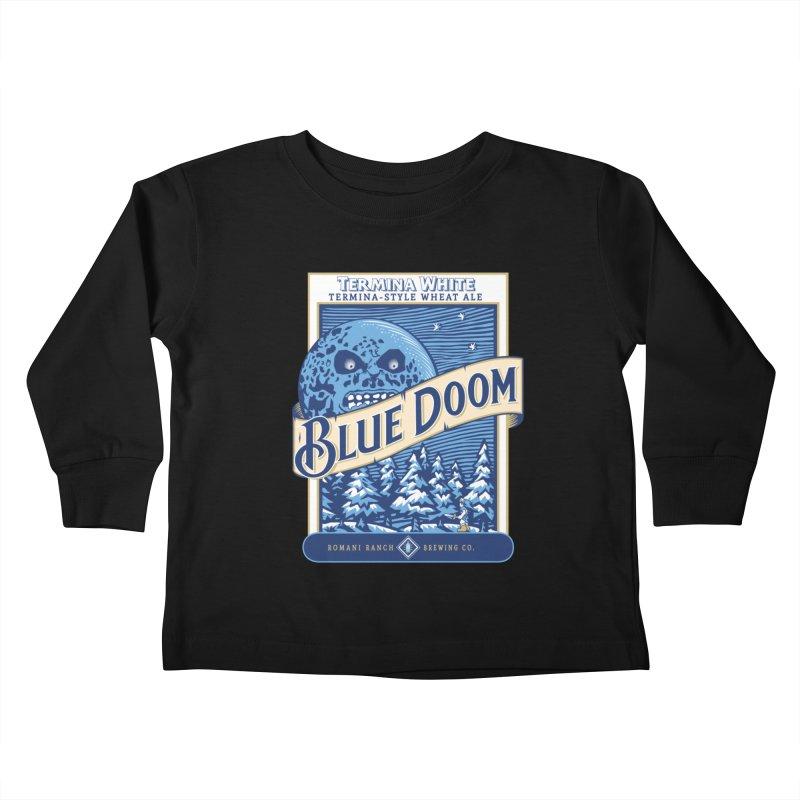 Blue Doom Kids Toddler Longsleeve T-Shirt by Moysche's Shop