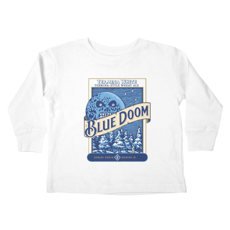 Blue Doom Kids Toddler Longsleeve T-Shirt by moysche's Artist Shop
