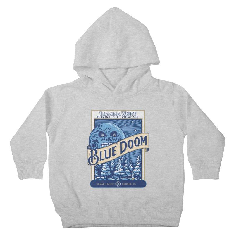Blue Doom Kids Toddler Pullover Hoody by moysche's Artist Shop