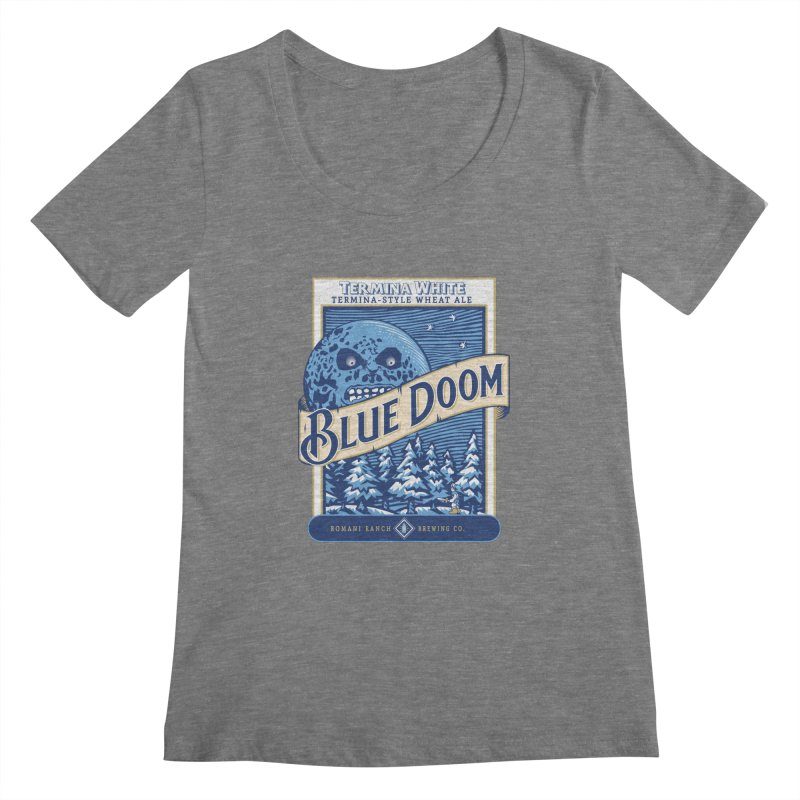 Blue Doom Women's Scoopneck by Moysche's Shop
