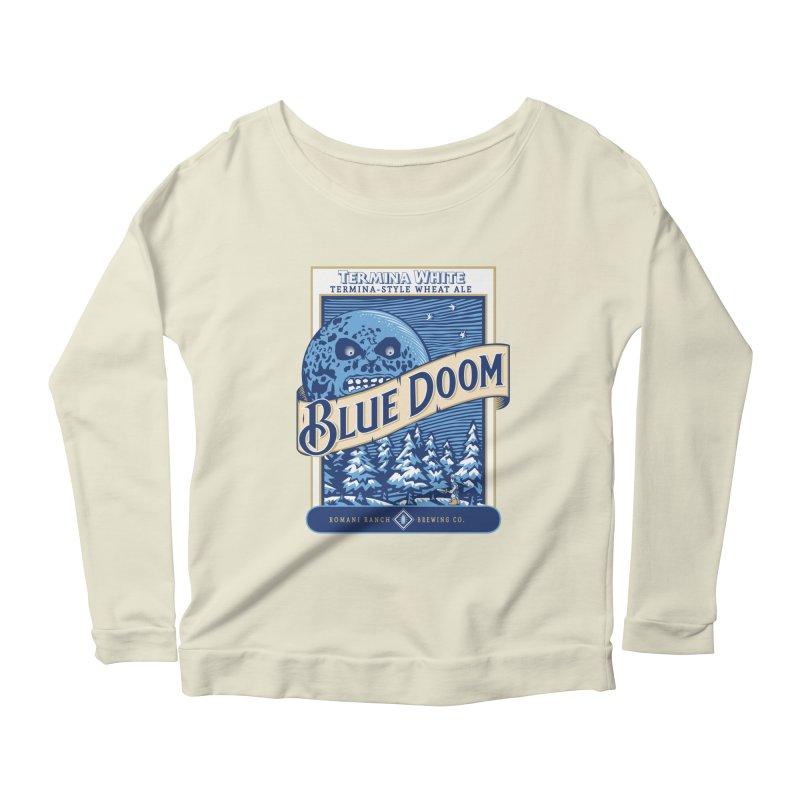 Blue Doom Women's Longsleeve Scoopneck  by moysche's Artist Shop
