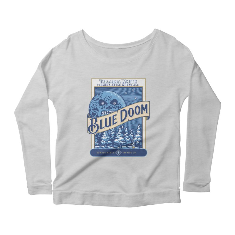 Blue Doom Women's Longsleeve Scoopneck  by moysche's Artist Shop