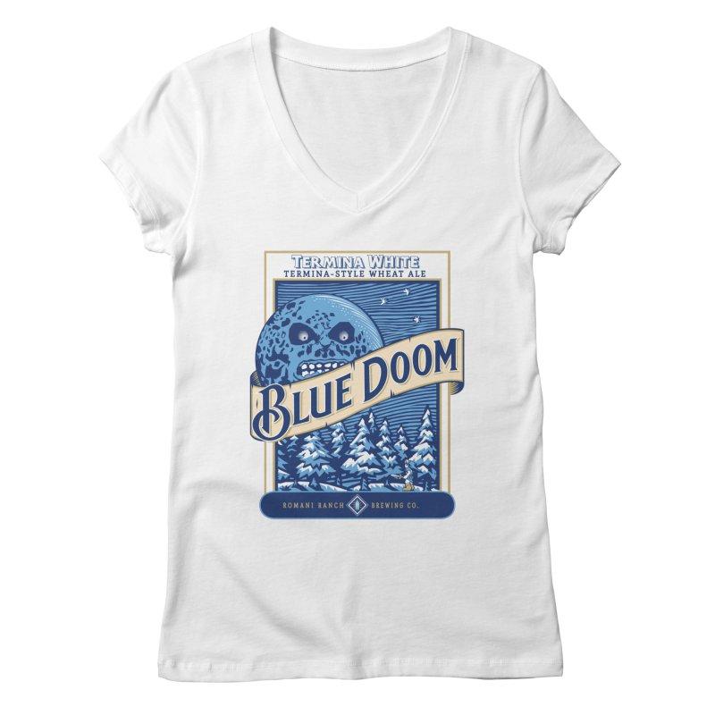 Blue Doom Women's V-Neck by Moysche's Shop