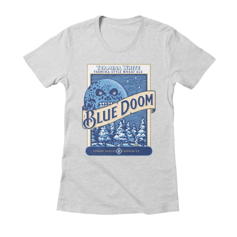 Blue Doom Women's Fitted T-Shirt by moysche's Artist Shop