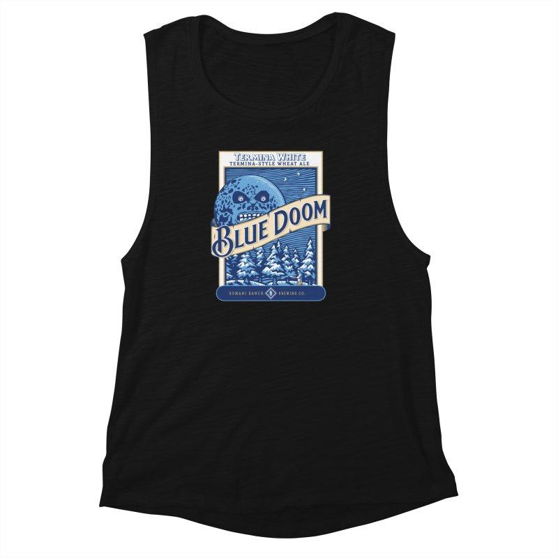Blue Doom Women's Muscle Tank by moysche's Artist Shop