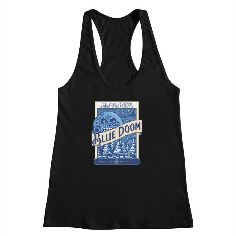 Blue Doom Women's Racerback Tank by moysche's Artist Shop