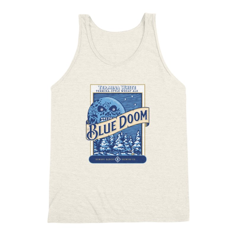 Blue Doom Men's Triblend Tank by moysche's Artist Shop
