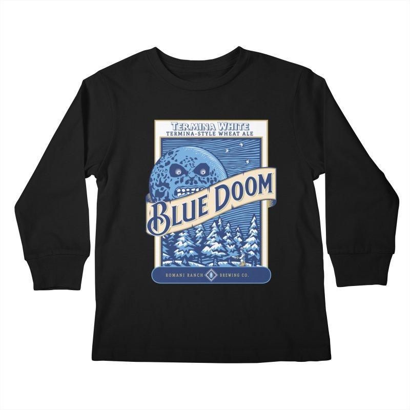 Blue Doom Kids Longsleeve T-Shirt by moysche's Artist Shop