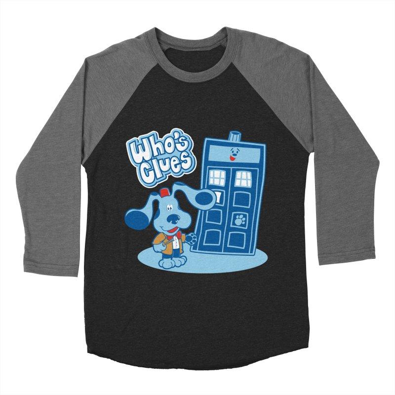 Who's Clues Men's Baseball Triblend T-Shirt by Moysche's Shop
