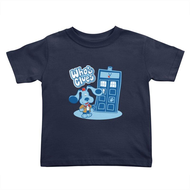 Who's Clues Kids Toddler T-Shirt by Moysche's Shop