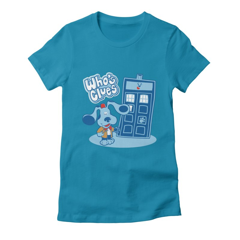 Who's Clues Women's Fitted T-Shirt by Moysche's Shop