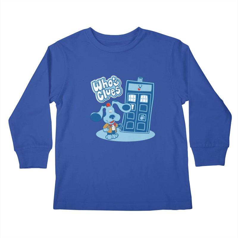 Who's Clues Kids Longsleeve T-Shirt by Moysche's Shop
