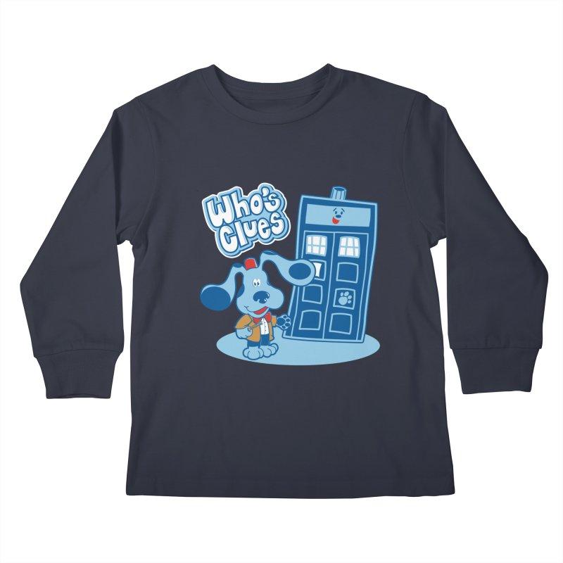 Who's Clues Kids Longsleeve T-Shirt by moysche's Artist Shop