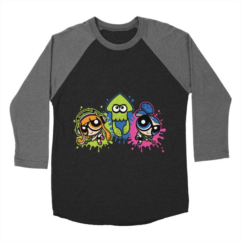 Splatoon Puff Men's Baseball Triblend T-Shirt by moysche's Artist Shop