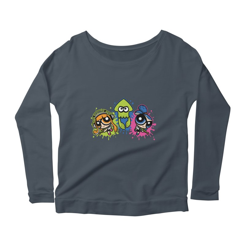 Splatoon Puff Women's Longsleeve Scoopneck  by moysche's Artist Shop