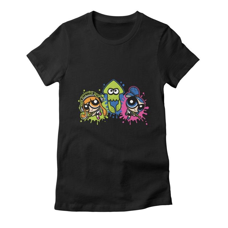 Splatoon Puff Women's Fitted T-Shirt by Moysche's Shop