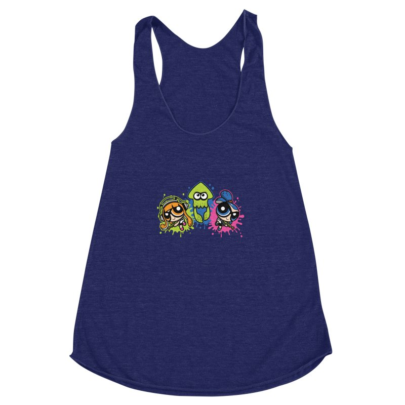 Splatoon Puff Women's Racerback Triblend Tank by Moysche's Shop