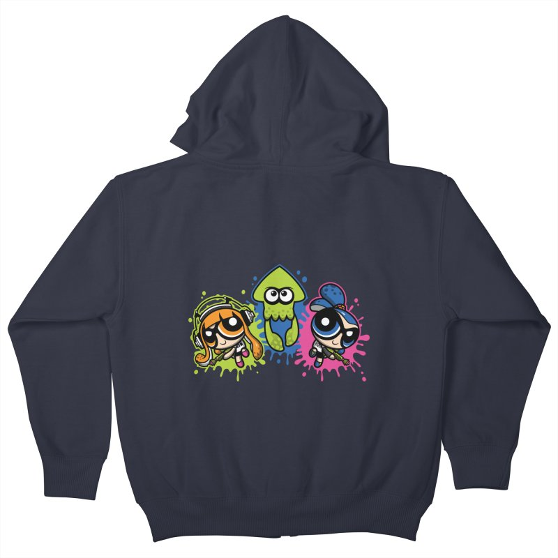 Splatoon Puff Kids Zip-Up Hoody by moysche's Artist Shop