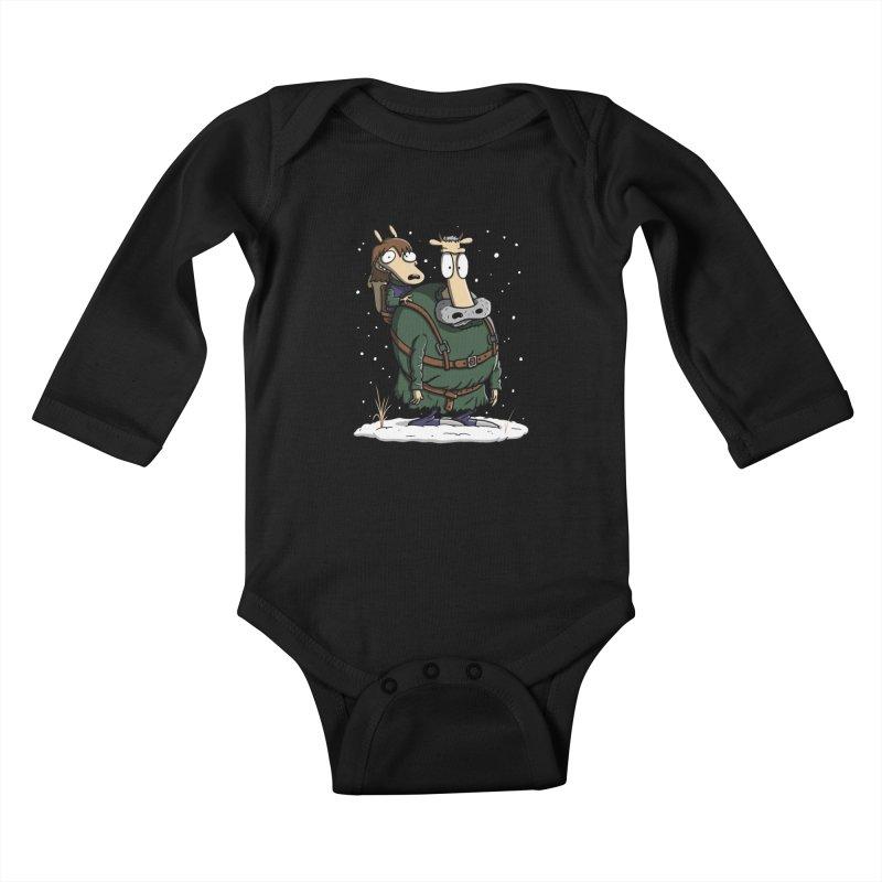 Bran's Modern Life Kids Baby Longsleeve Bodysuit by moysche's Artist Shop