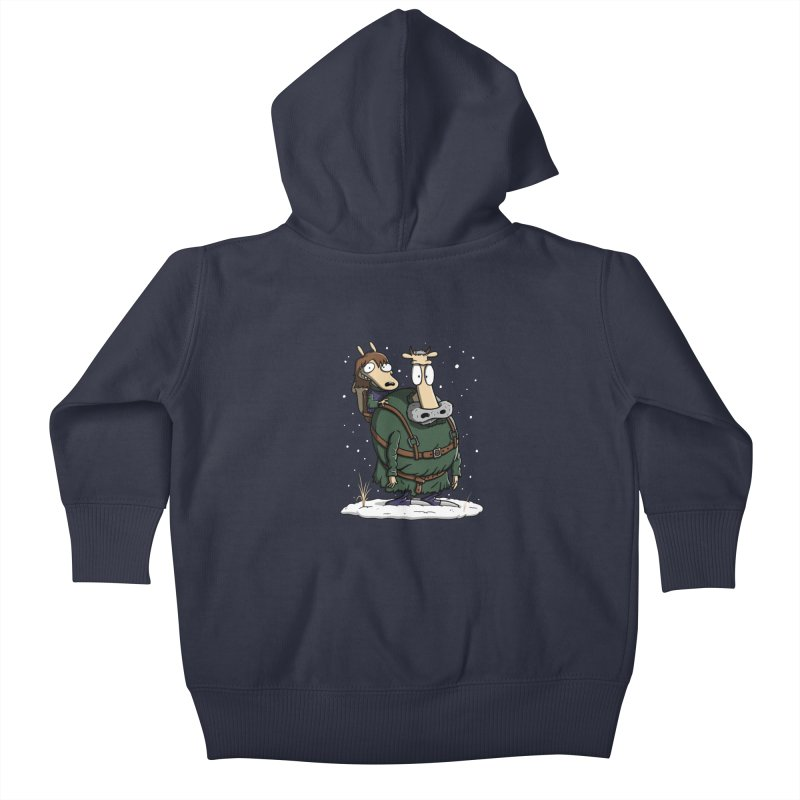 Bran's Modern Life Kids Baby Zip-Up Hoody by moysche's Artist Shop