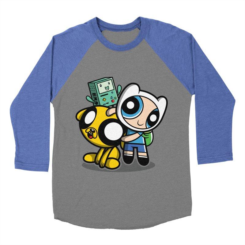 Adventure Puff Buds Men's Baseball Triblend T-Shirt by moysche's Artist Shop