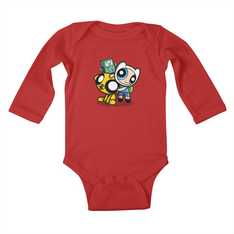 Adventure Puff Buds Kids Baby Longsleeve Bodysuit by moysche's Artist Shop