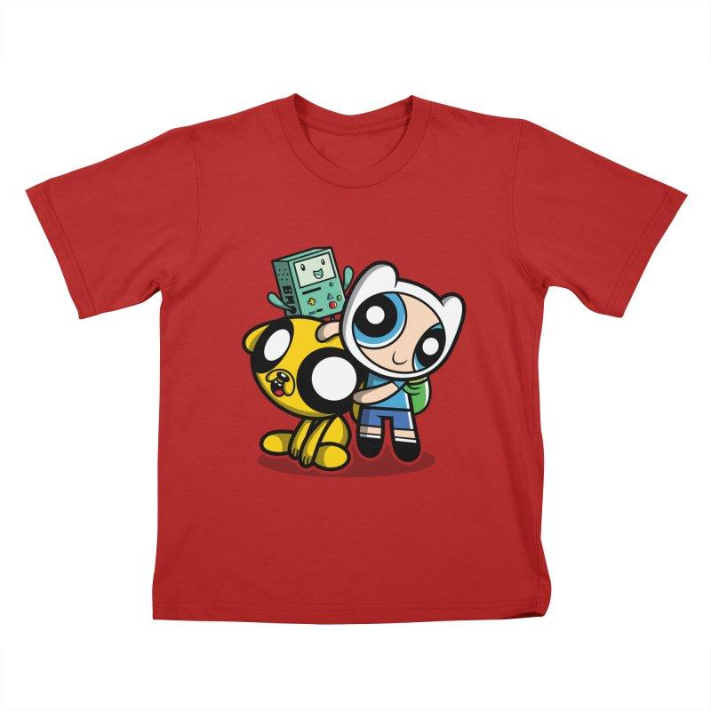 Adventure Puff Buds Kids T-shirt by moysche's Artist Shop