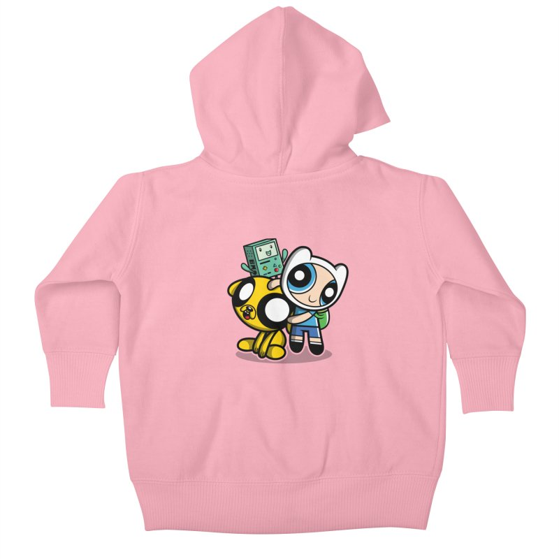 Adventure Puff Buds Kids Baby Zip-Up Hoody by moysche's Artist Shop