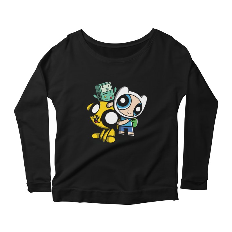 Adventure Puff Buds Women's Longsleeve Scoopneck  by moysche's Artist Shop