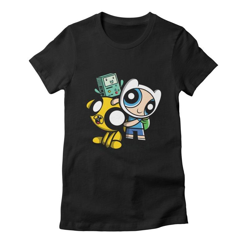 Adventure Puff Buds Women's Fitted T-Shirt by moysche's Artist Shop