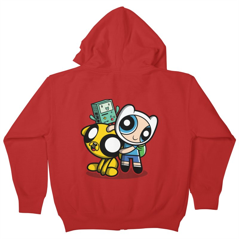 Adventure Puff Buds Kids Zip-Up Hoody by moysche's Artist Shop