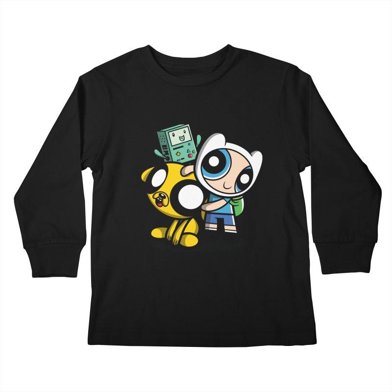 Adventure Puff Buds Kids Longsleeve T-Shirt by moysche's Artist Shop