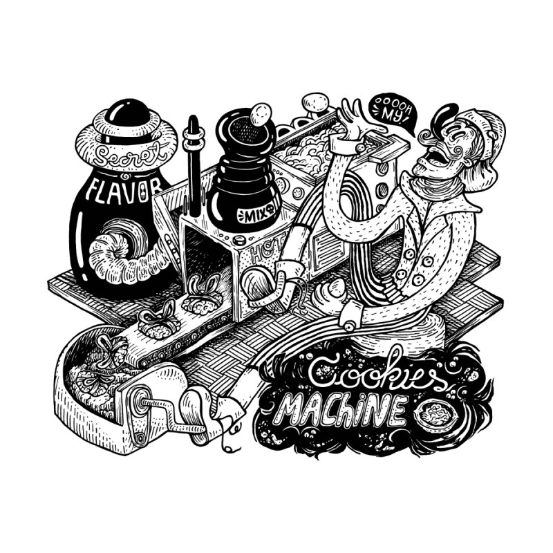 Cookies Machine None  by MrCapdevila Artist Shop